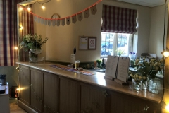 Burnsall Village Hall wedding bar side