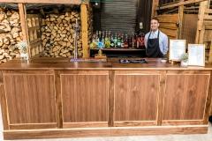 Wedding Bar Hire - Walnut Bar